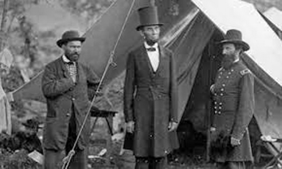 Lincoln in camp